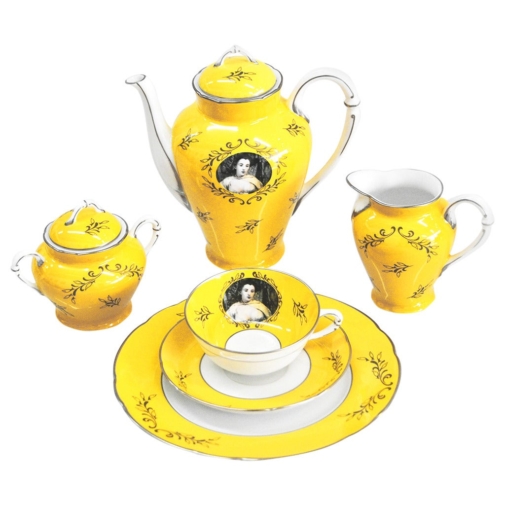 Yellow Tea Service by Cindy Sherman For Sale