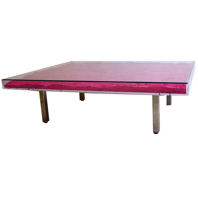 Table Rose Pink Table By Yves Klein At 1stdibs