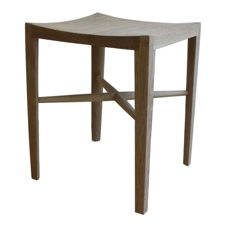 Quot Quarter Round Stool Quot By Christopher Kurtz For Sale At 1stdibs
