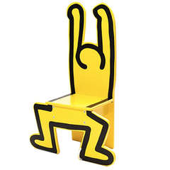 Child Chair featuring a design by Keith Haring