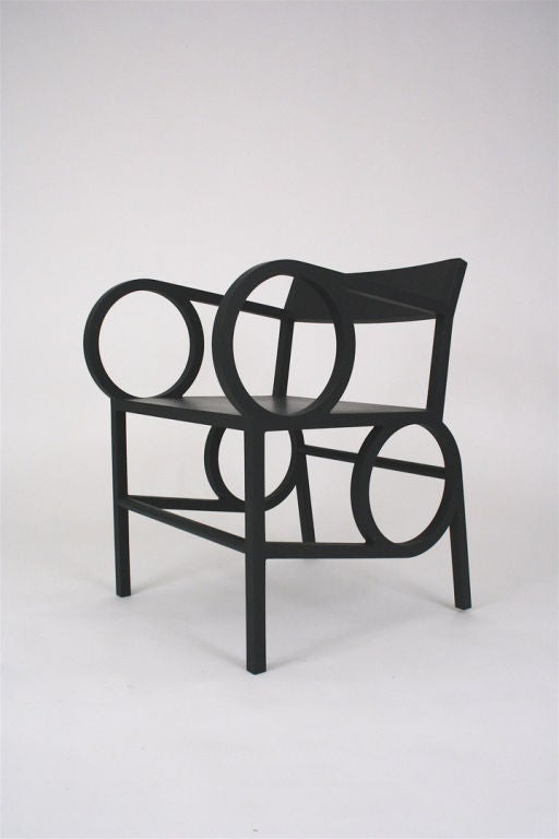 American Circle Armchair and Ottoman by Christopher Kurtz For Sale