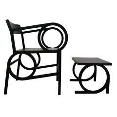 Circle Arm Chair & Ottoman by Christopher Kurtz