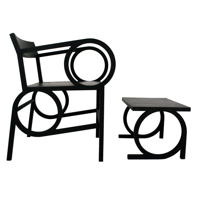 Circle Armchair and Ottoman by Christopher Kurtz For Sale