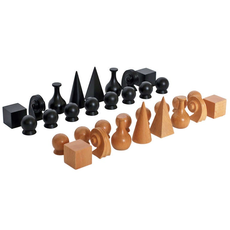 Chess Set with Board by Man Ray For Sale