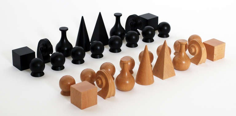 German Chess Set with Board by Man Ray For Sale