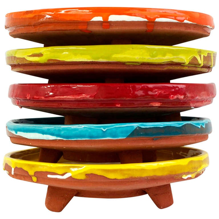 Terracotta Plates 'Set of Five' by Steve Keister