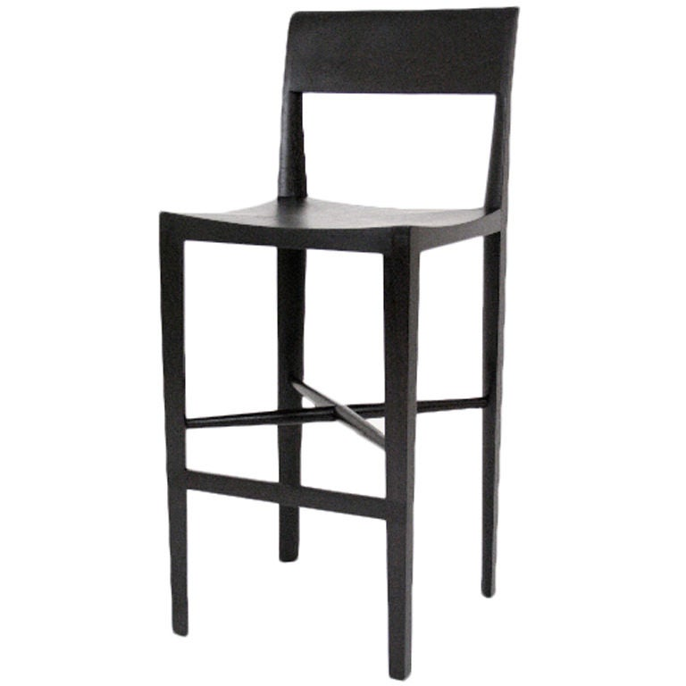 Quarter Round Counter Stool By Christopher Kurtz For Sale