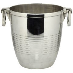 Christofle Art Deco Sterling Silver Wine Cooler