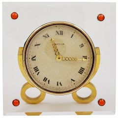 CARTIER GOLD, Rock crystal clock