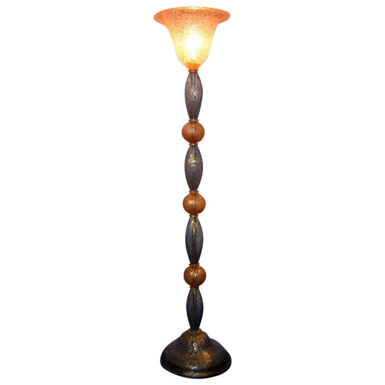 Large Murano Floor Lamp For Sale at 1stdibs