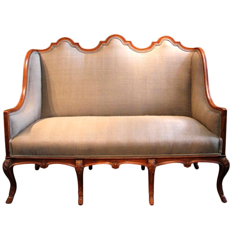 outstanding 19th cent eight leg high back walnut sofa at