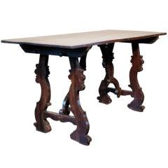 19th Century Spanish Walnut Occasional Table