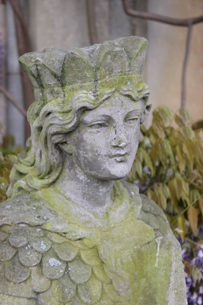 Carved Stone Statue : Th century carved stone garden statue for sale at stdibs