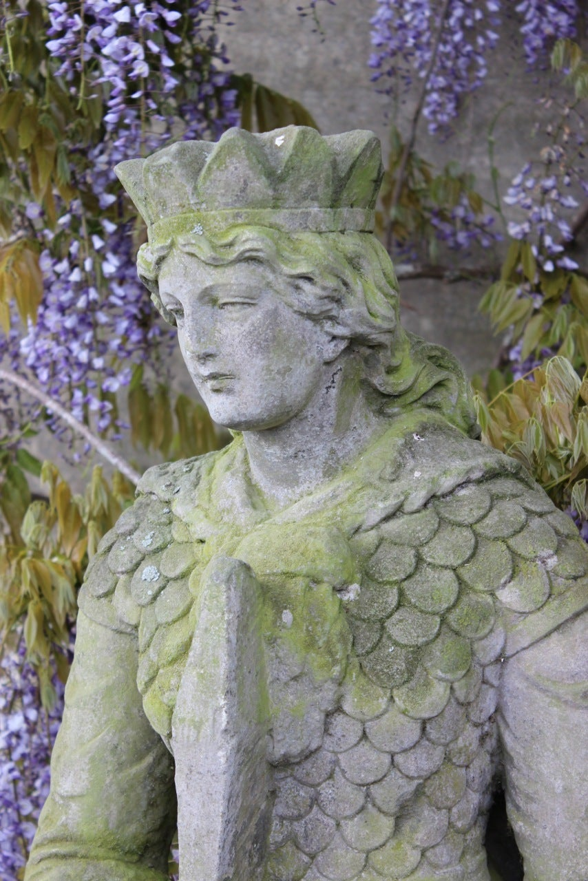 Th century carved stone garden statue for sale at stdibs