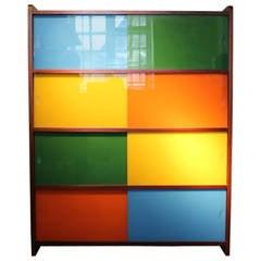 1960s Sliding Glazed Door Cabinet