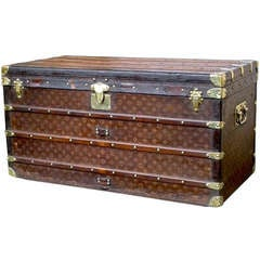 Rare Louis Vuitton 19th Century Trunk / Coffee Table