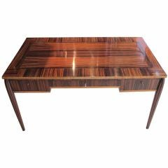 Macassar Ebony And Satinwood Art Deco Desk