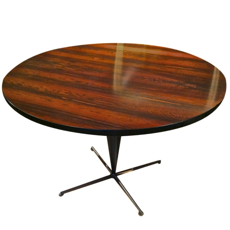 verner panton table in rosewood and aluminium at 1stdibs. Black Bedroom Furniture Sets. Home Design Ideas