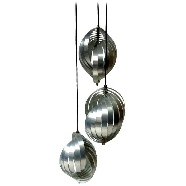 Henri Mathieu Superb Design Three Lights Shell Like