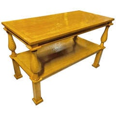 Andre Arbus Genuine Documented Neoclassical Blond Oak Coffee Table