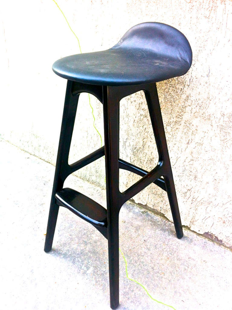 Set Of Eight Barstools By Erik Buch In Rosewood For Sale