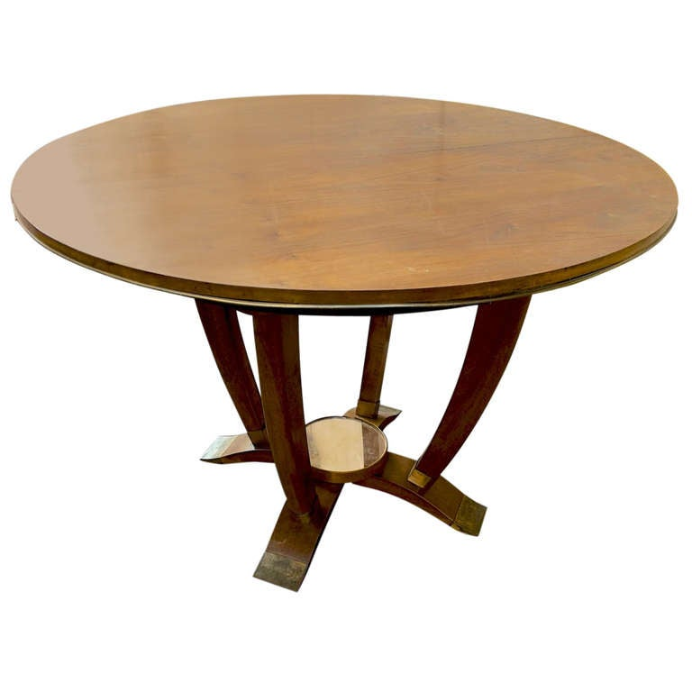 Maison gouff signed beautiful 1940 39 s round dining table for Beautiful round dining tables