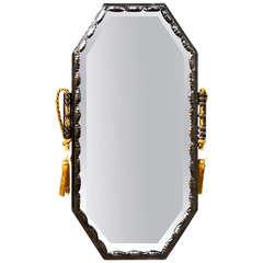 Louis Katona Stamped Superb Quality Wrought Iron Art Deco Mirror