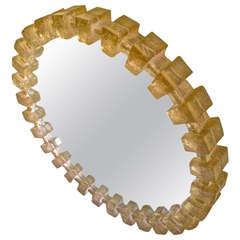 Lighted Pale Yellow Resin Mirror
