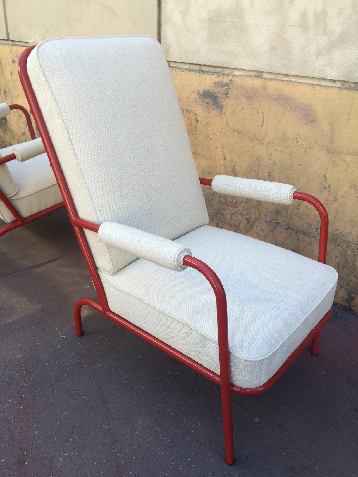 Set of French 1950s Four fortable Lounge Chairs in the Style of Jean Prouv