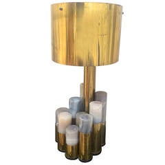 Ado Chale Multi-Cylinder Agates Lamp in Vintage Condition