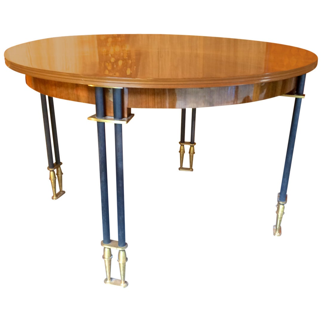 Jules leleu documented 1950s design round extendable for Designer extending dining tables