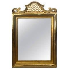 Jean Charles Moreux Superb Neoclassic Gold Leaf Carved Mirror