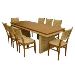 Exceptional Audoux Minet Dining Set in Perfect Condition