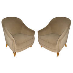 Maison Jansen Gold Leaf Legs Set with a Couch and Two Chairs