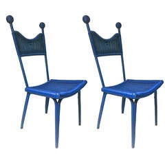 "Jean Royère, Documented ""Personal"" Pair of Chairs from His House in Brittany"