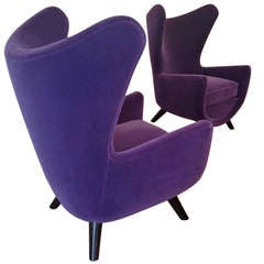 "Pair of Jean Royere Documented Big ""Elephanteau"" Model Armchairs"