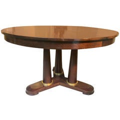 jean royère Tripod Round Dinning Table with Tri-Pedestal Base