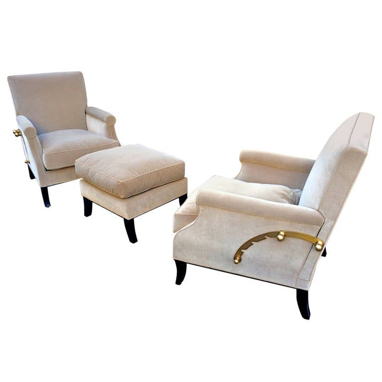 Maurice Hirsch Rare Pair Of Adjustable Reclining Chairs