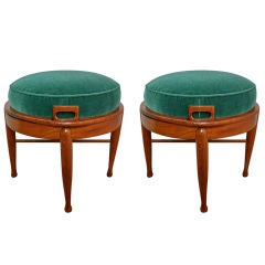 Pair of Reversible Stools That Can Be Either Stool or Side Table