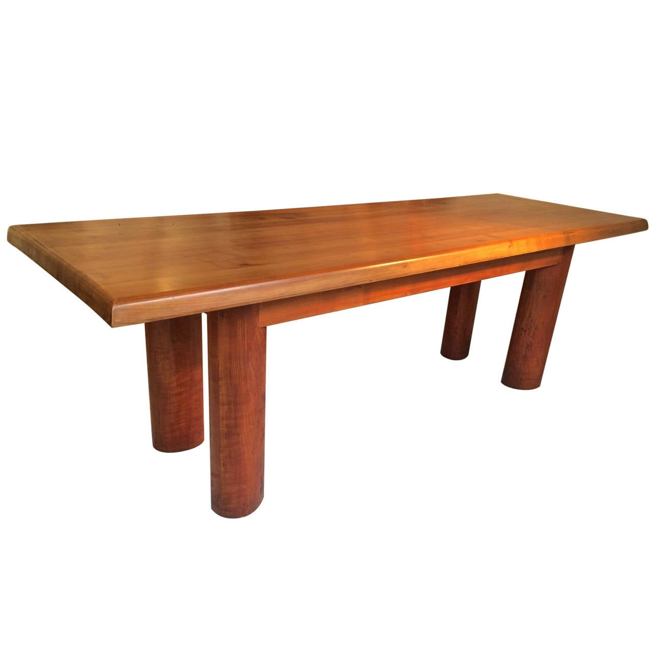 charlotte perriand style solid wood long table at 1stdibs. Black Bedroom Furniture Sets. Home Design Ideas