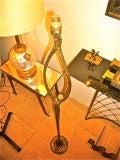 "FELIX AGOSTINI SIGNED floor lamp model""nymphe"" in gold bronze image 4"