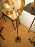 "FELIX AGOSTINI SIGNED floor lamp model""nymphe"" in gold bronze image 5"