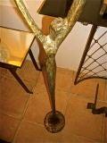 "FELIX AGOSTINI SIGNED floor lamp model""nymphe"" in gold bronze image 8"