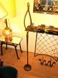 "FELIX AGOSTINI SIGNED floor lamp model""nymphe"" in gold bronze image 9"