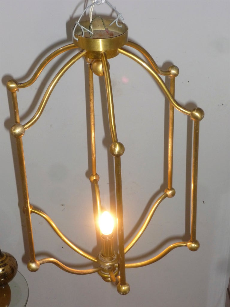 Exceptional Set Of Four Long 1940s Gold Bronze Cage French