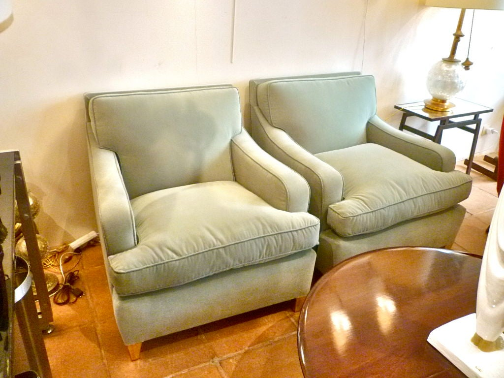 Maison Jansen Very Large And Comfortable Club Chairs At