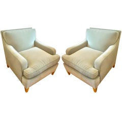 Maison Jansen Very Large and Comfortable Club Chairs