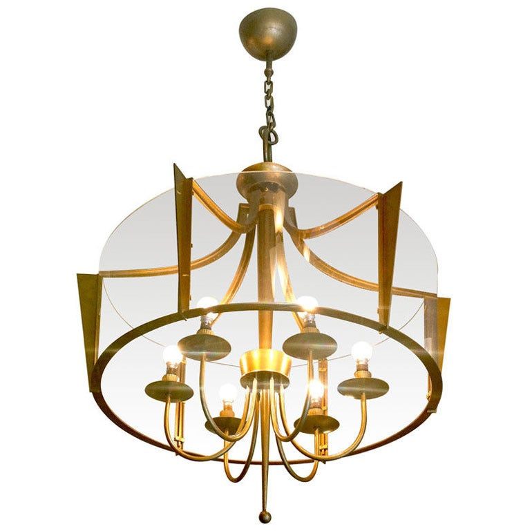 Raymond Subes Rare Superb Neoclassic 1940s Chandelier For