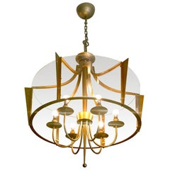 Raymond Subes Rare, Superb Neoclassic 1940s Chandelier