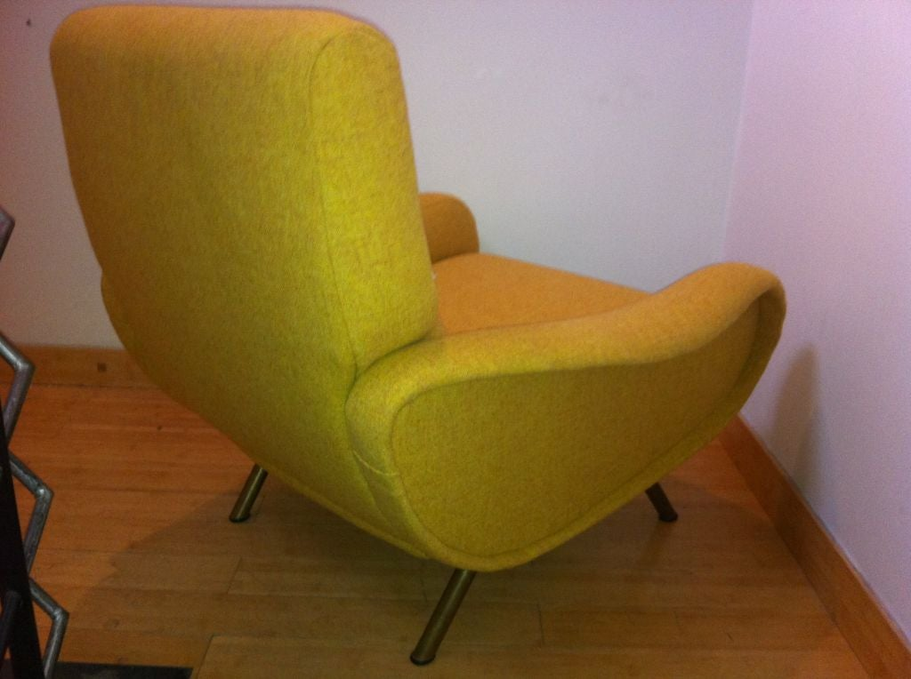 Marco Zanuso Vintage Lady Pair Of Chairs Recovered In Yellow image 6
